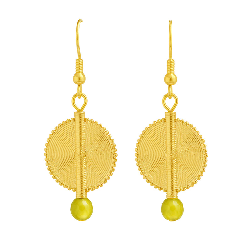 Aflé Bijoux Akan Gemstones Earrings - Serpentine - AFLE BIJOUX