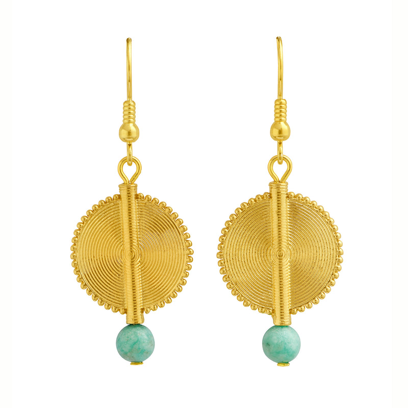 Aflé Bijoux Akan Gemstones Earrings - Amazonite - AFLE BIJOUX