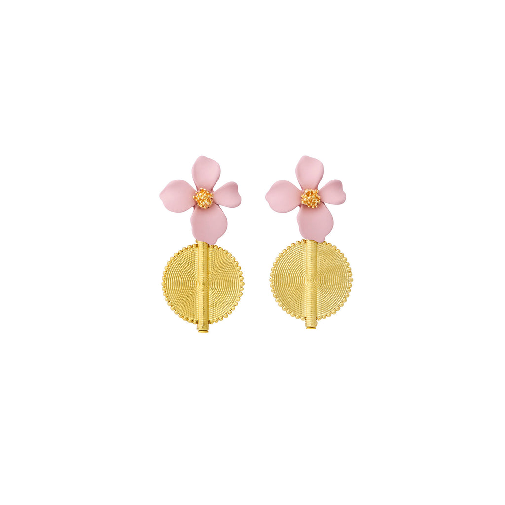 Aflé Bijoux Akan Flowers Earrings - Rosa - AFLE BIJOUX