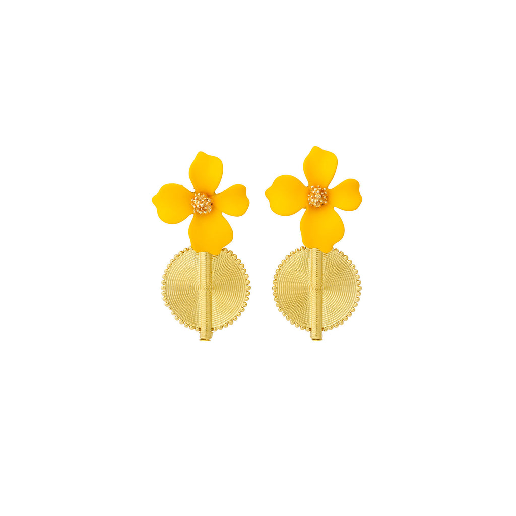 Aflé Bijoux Akan Flowers Earrings - Yellow - AFLE BIJOUX