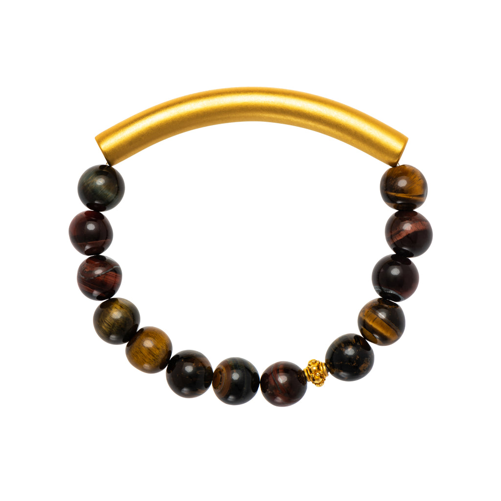 Tiger´s eye Men's Bracelet - AFLE BIJOUX