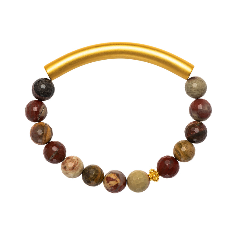 Red Jasper Men's Bracelet - AFLE BIJOUX