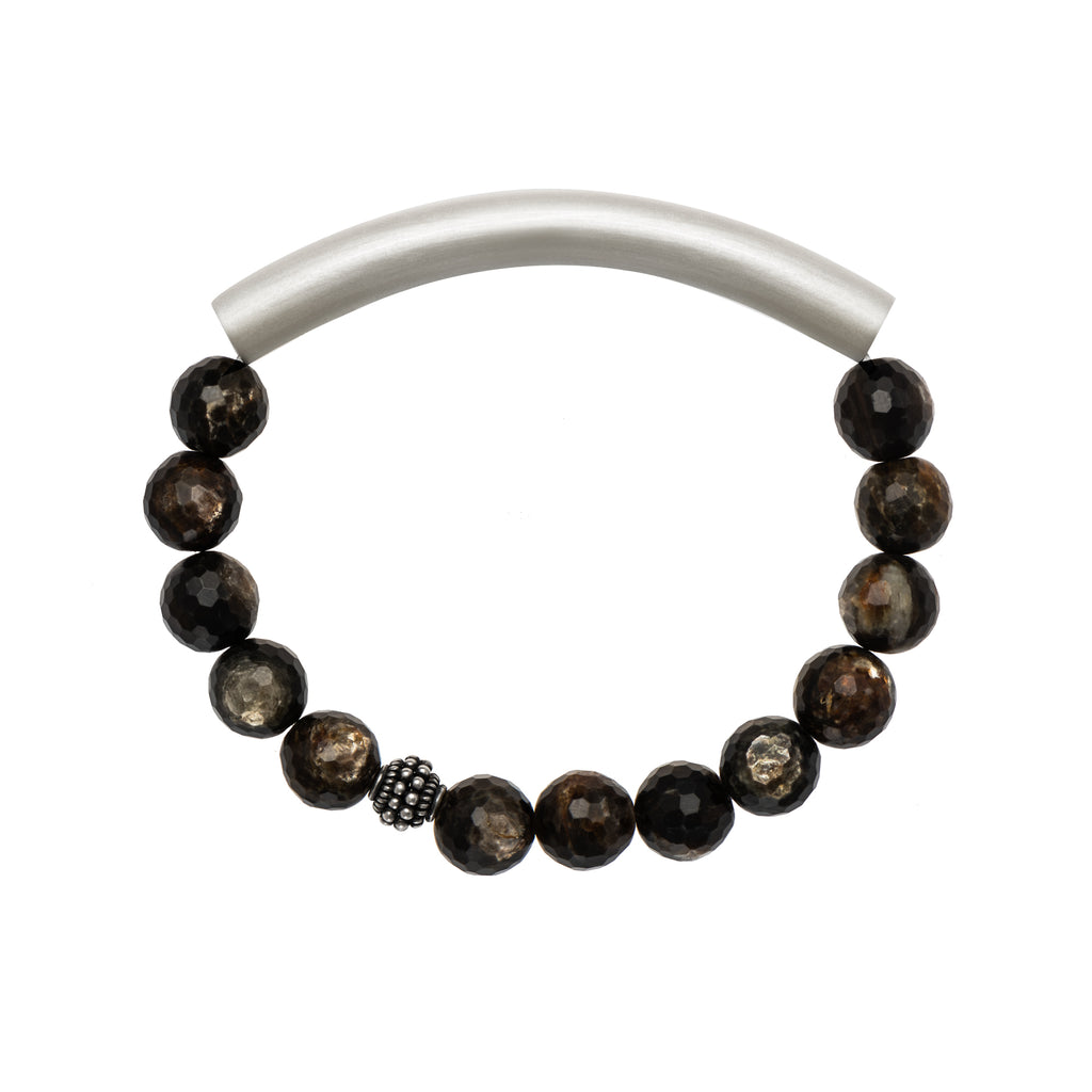 Black Rutilated Quartz Men's Bracelet