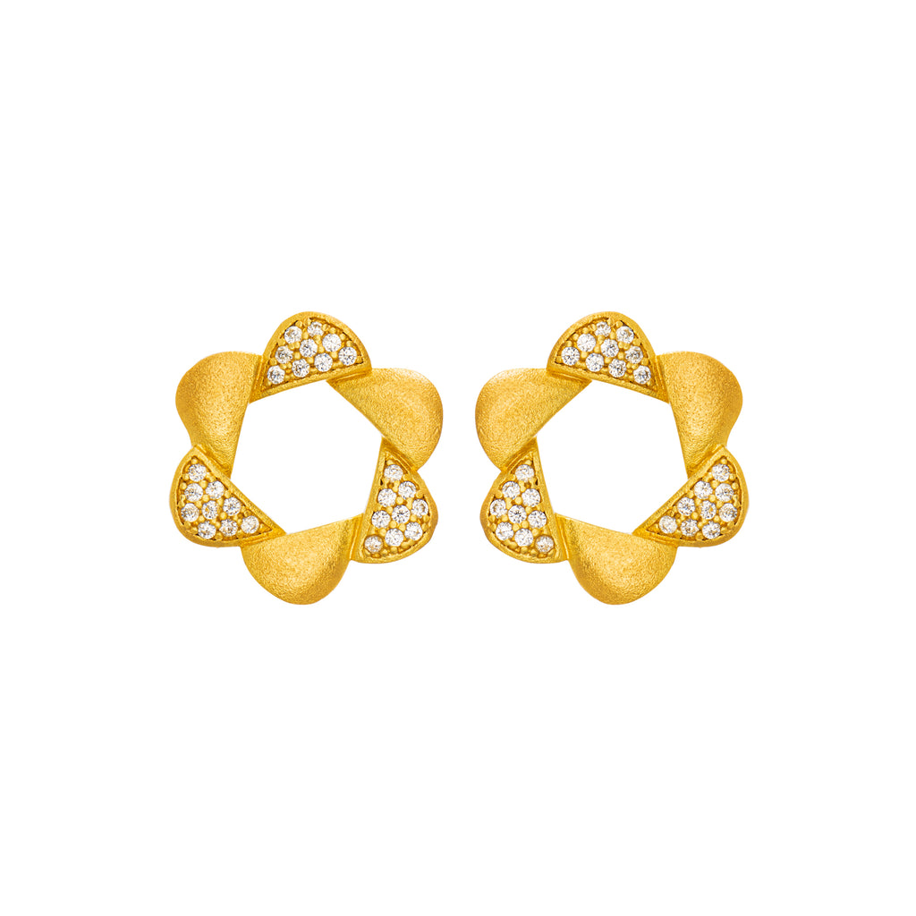 Adinkra Obaa Pa Earrings Small - Ideal woman - AFLE BIJOUX