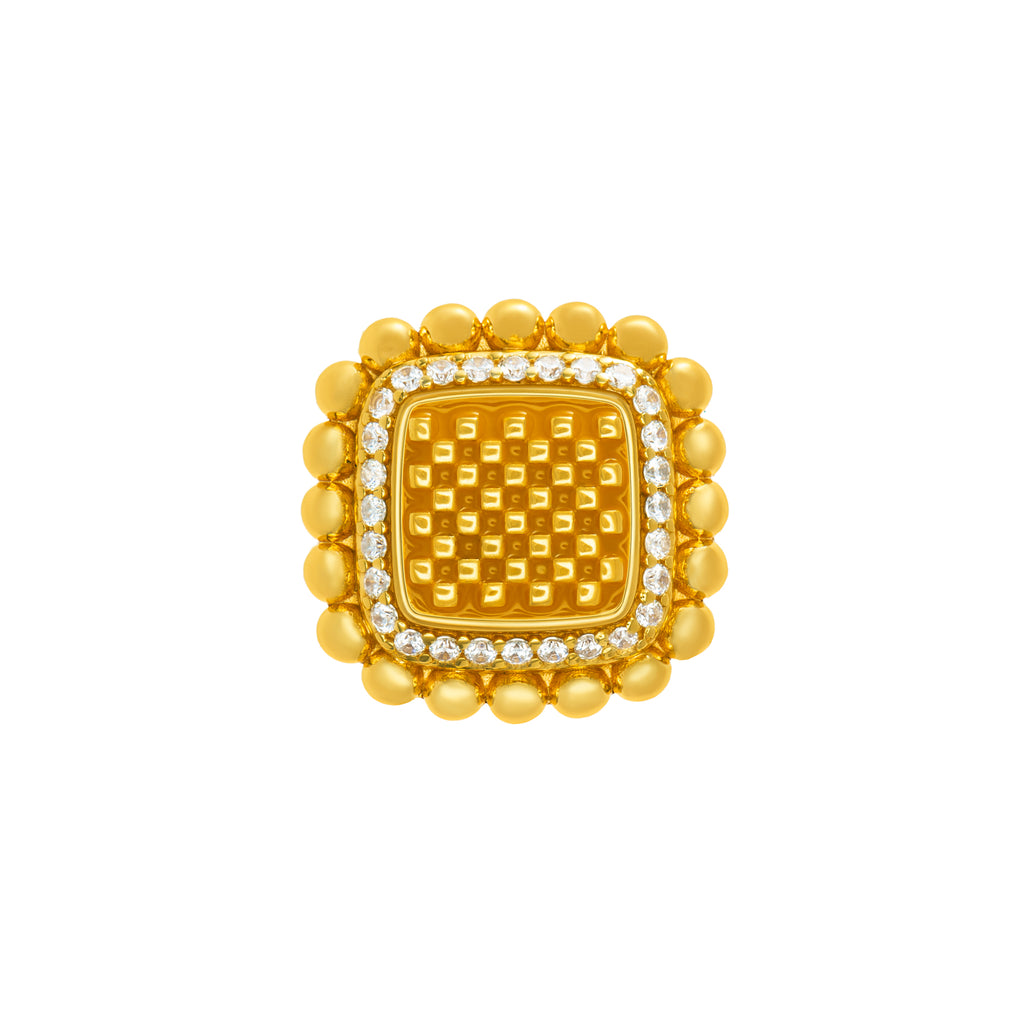Adinkra Block Dan Ring