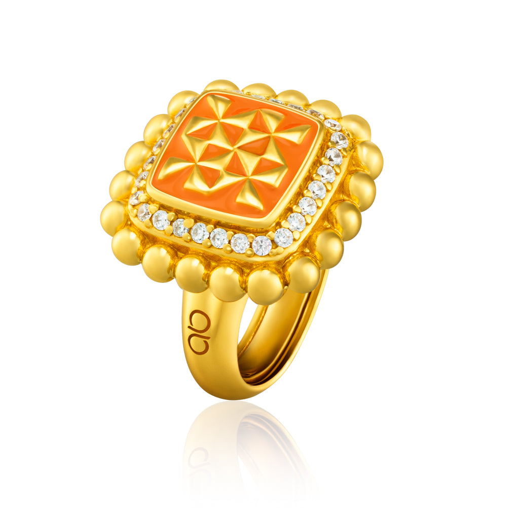 Adinkra Kyemfere Ring - Experience - AFLE BIJOUX