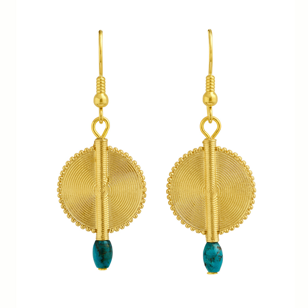 Aflé Bijoux Akan Gemstones Earrings - Turquoise - AFLE BIJOUX