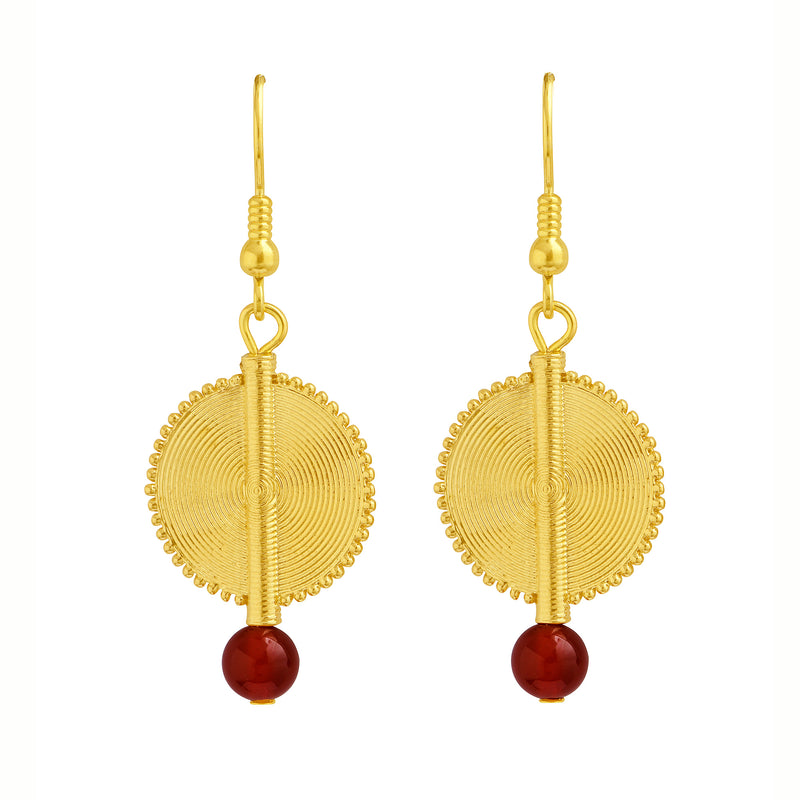 Aflé Bijoux Akan Gemstones Earrings - Carnelian - AFLE BIJOUX