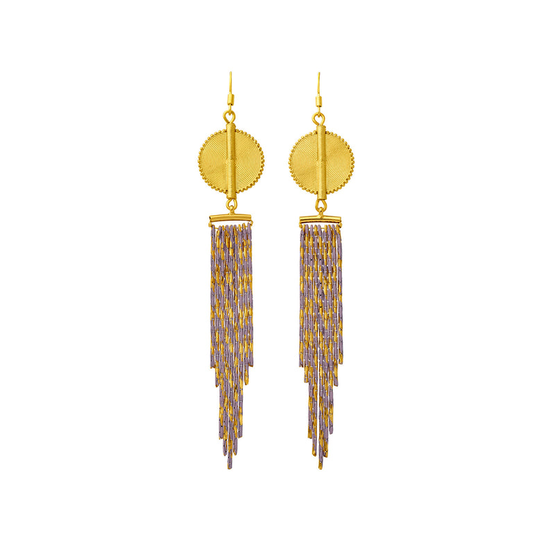 Aflé Bijoux Akan Cascading Chain Earrings - Gold Rosa - AFLE BIJOUX