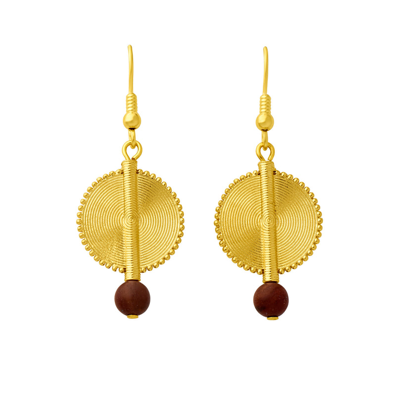 Aflé Bijoux Akan Gemstones Earrings - Mookaite