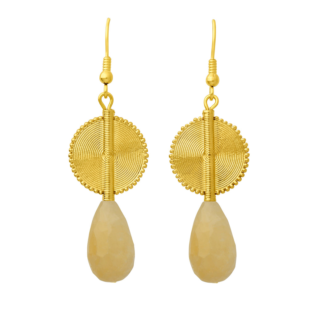 Aflé Bijoux Akan Gemstones Drops Earrings - Citrine - AFLE BIJOUX