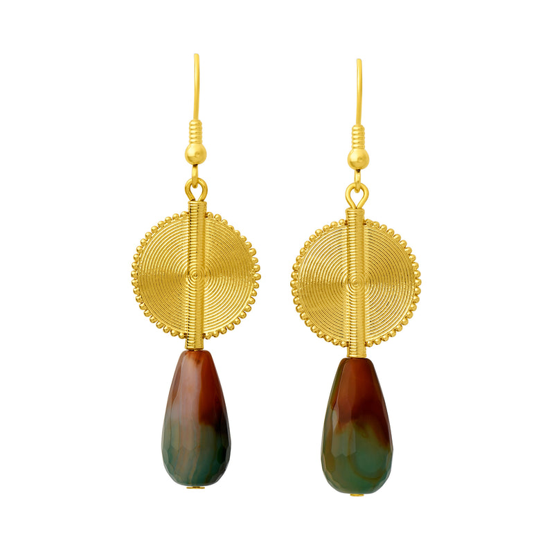Aflé Bijoux Akan Gemstones Drops Earrings - Agates - AFLE BIJOUX