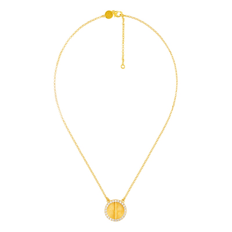 Sparkle Akan Pendant Necklace Large - AFLE BIJOUX