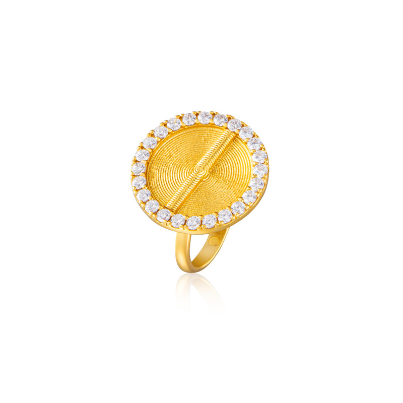 Sparkle Akan Ring Large - AFLE BIJOUX