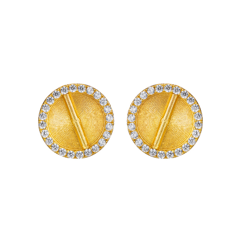 Sparkle Akan Studs Earrings Large