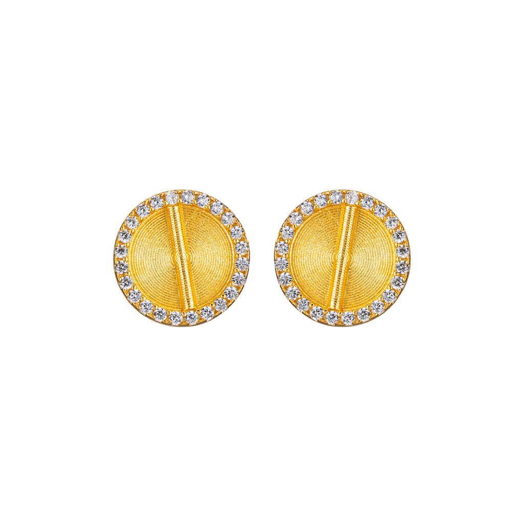 Sparkle Akan Studs Earrings Small - AFLE BIJOUX