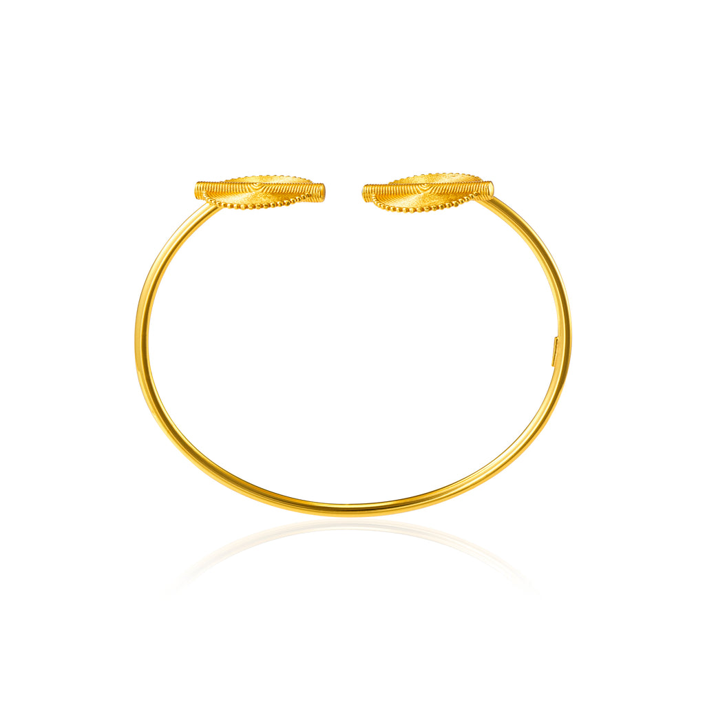Akan Goldweights Bangle Bracelet