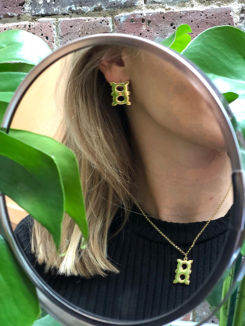 Adinkra Obaa Ne Oman Earrings - Feminism - AFLE BIJOUX