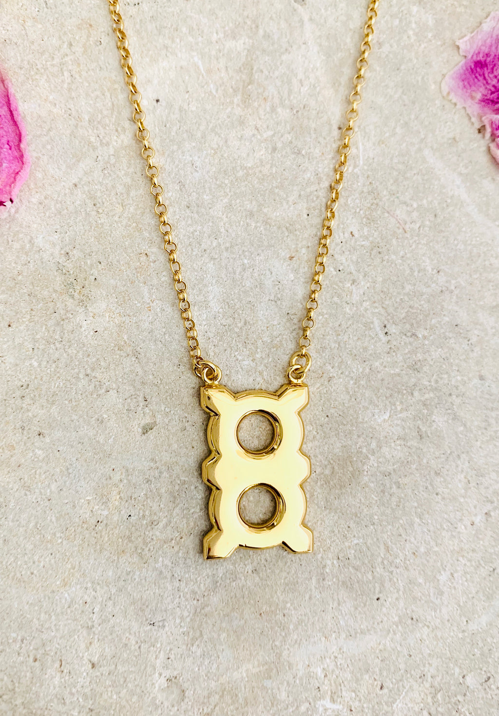 Adinkra Obaa Ne Oman Necklace