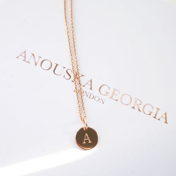 ROSE GOLD ENGRAVEABLE 'PETIT' PENDANT NECKLACE