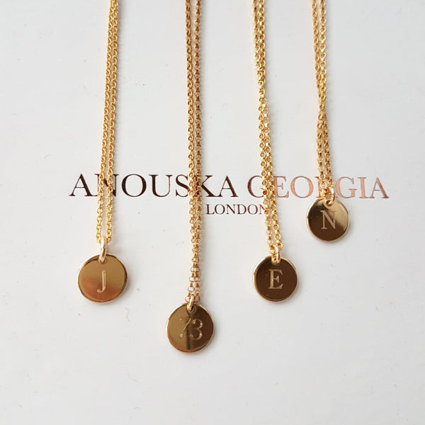 14KT GOLD ENGRAVEABLE 'PETIT' PENDANT NECKLACE