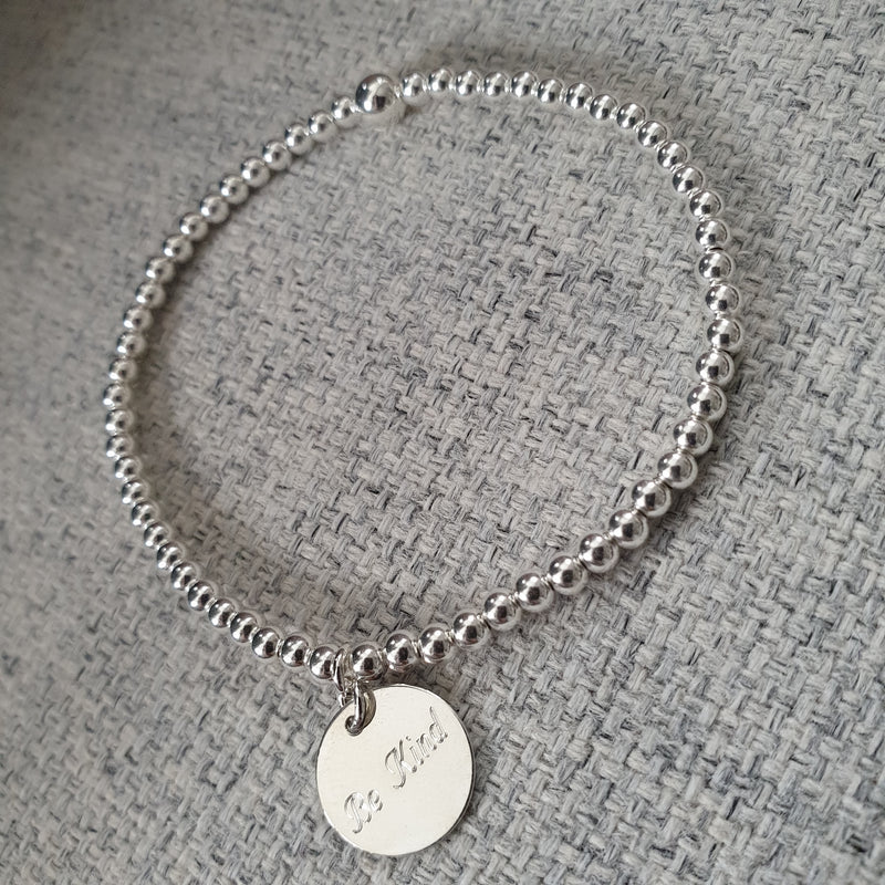 'BE KIND' Sterling  Silver Bracelet