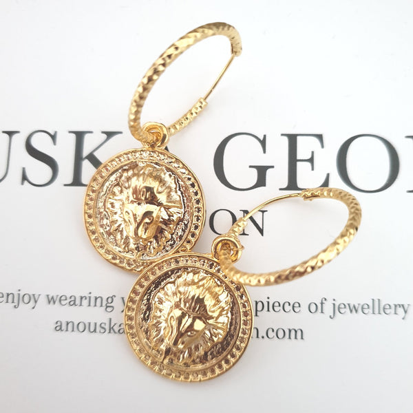 LUXE LION EARRINGS