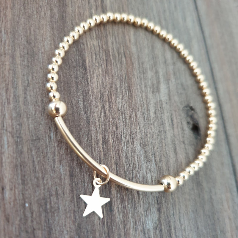 14KT GOLD 'MY LITTLE STARS' BRACELET