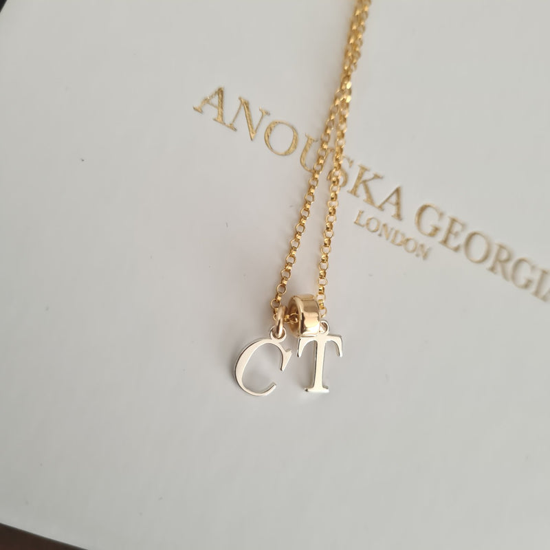 'THE INITIAL NECKLACE' 14kt Gold & Sterling Silver