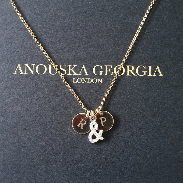 14KT GOLD  'ME & YOU' NECKLACE
