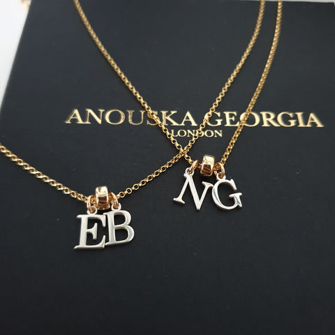 'THE INITIAL NECKLACE' 14KT GOLD