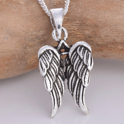 P716 - Silver angel wings pendant
