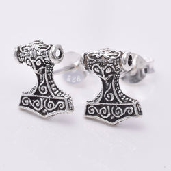 S620 - Thors hammer Stud earrings