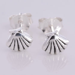 S575 - Scallop shell stud earrings