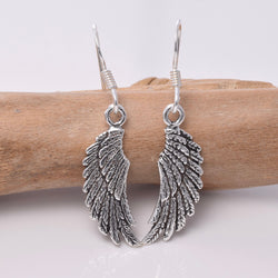 E219 - sterling silver angel wing earrings