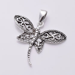 P801 - 925 Silver filigree dragonfly pendant