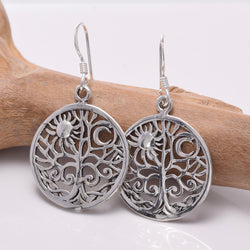 E655 - 925 Silver Tree of Life earrings
