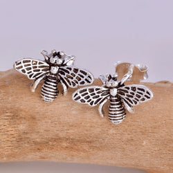 S587 - Bumble bee stud earrings