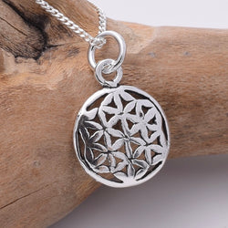 P794 - 925 Silver small flower of life pendant