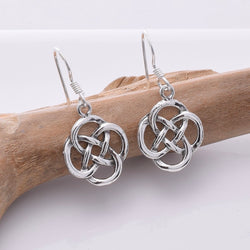 E661 - 925 Silver Celtic knotwork earrings