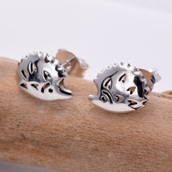 S631 - Silver Hedgehog stud earrings