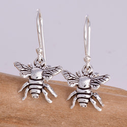 E613 - Sterling silver bee earrings