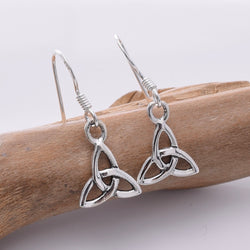 E666 - 925 Silver Small triquetra earrings
