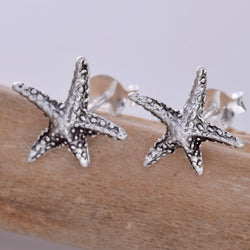 S595 - Silver Starfish stud earrings