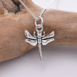 P806 - 925 Silver small dragonfly pendant