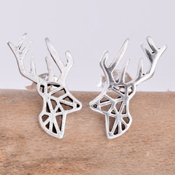 S608 - Stags Head stud earrings
