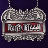 PWP3325 - Bat's Blood pewter decanter label