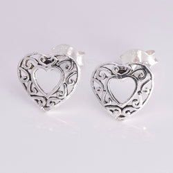 S226 - Filligree Heart Stud Earrings