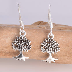 E509 - Tree of life drop earrings