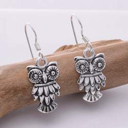 E680 - 925 Silver owl earrings